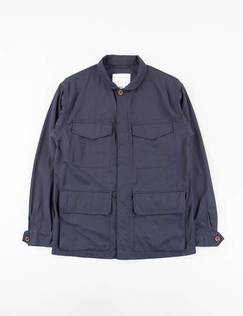 Blue Batavia Nylon Campo Jacket