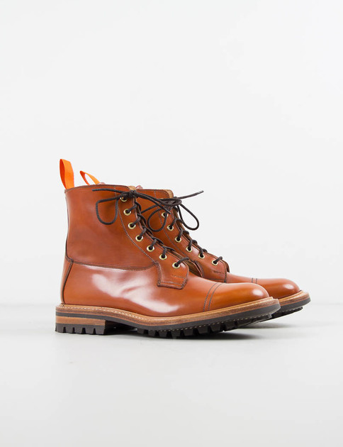 Orange Cordovan Toe Cap Allan Boot