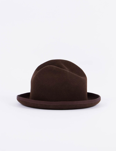 Brown Homburg Hat