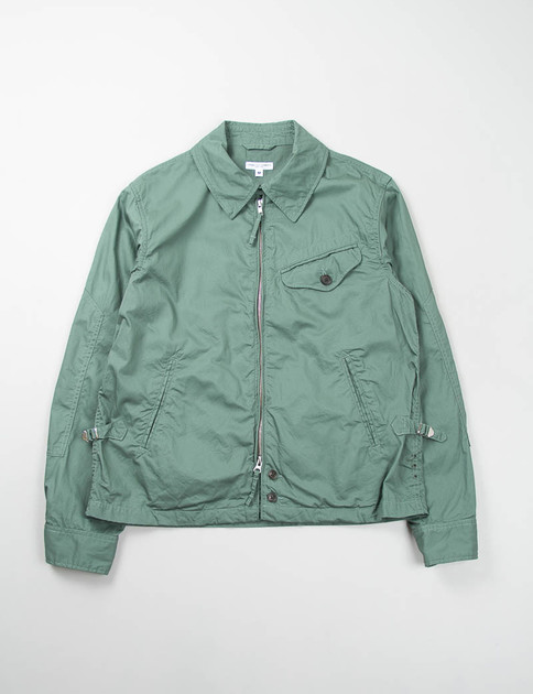 Olive Washer Twill Driver Jacket