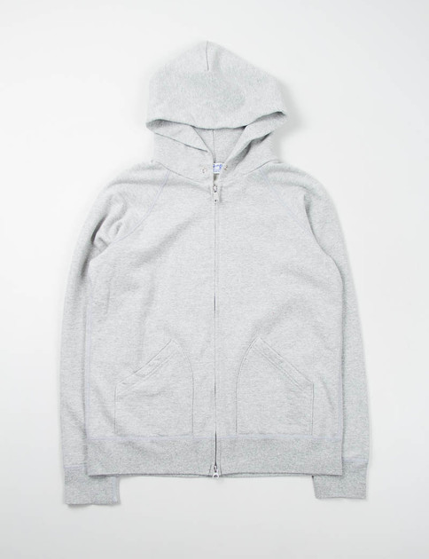 Heather Grey Hooded Zip Sweat