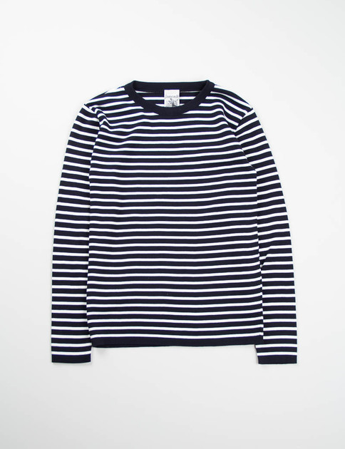 Dark Navy/White Passage Crew Neck