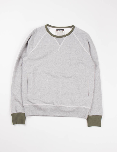 Army Gym Grey Marl Crew Neck