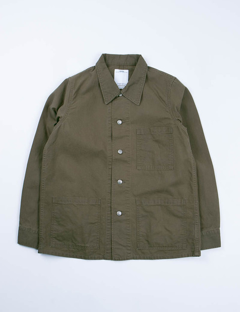 Olive Canvas Travail Coverall
