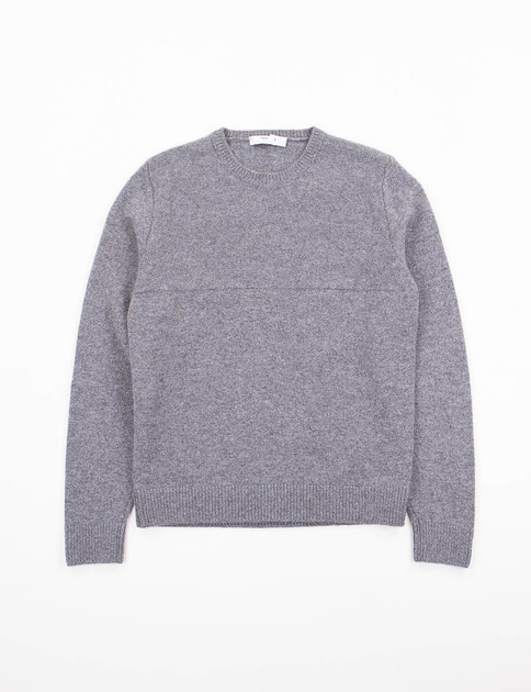 Grigio Purl Yoke Crew Neck Sweater