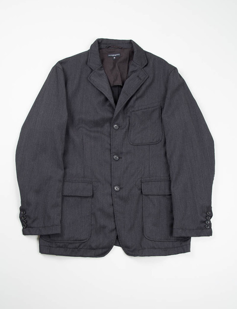 Charcoal Wool Gabardine Baker Jacket