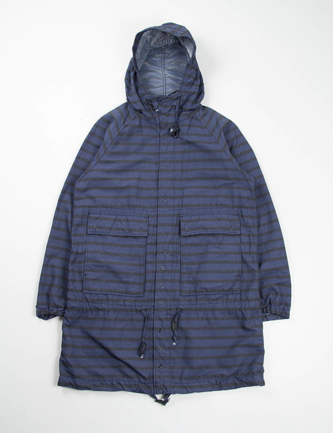 Black/Navy Stripe Activecloth Light Parka