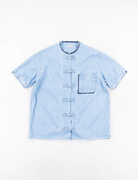 Processed Denim China Aloha Shirt
