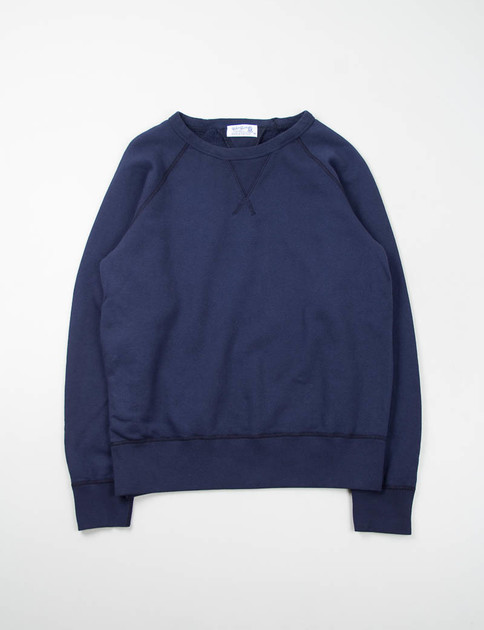Navy Double V Raglan Sweat