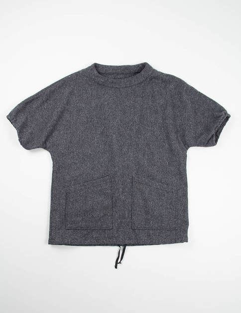 Grey 13oz Wool Flannel S/S Smock