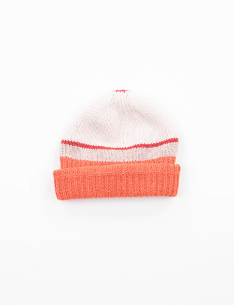 Natural/Orange Stripe Hat