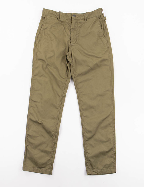Olive 7oz Cotton Twill Ground Pant