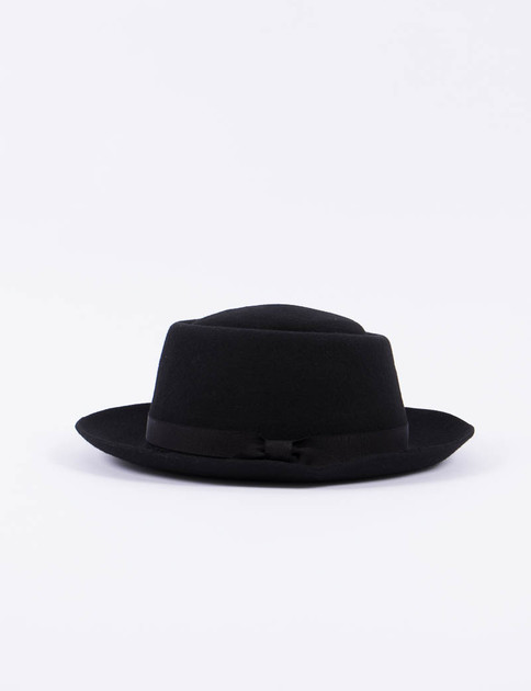 Black Felt Classic Pork Pie Hat