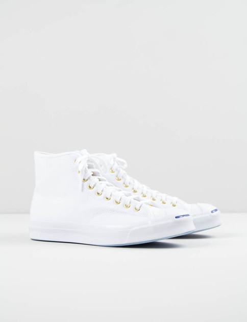 White Jack Purcell Signature Duck Canvas Hi