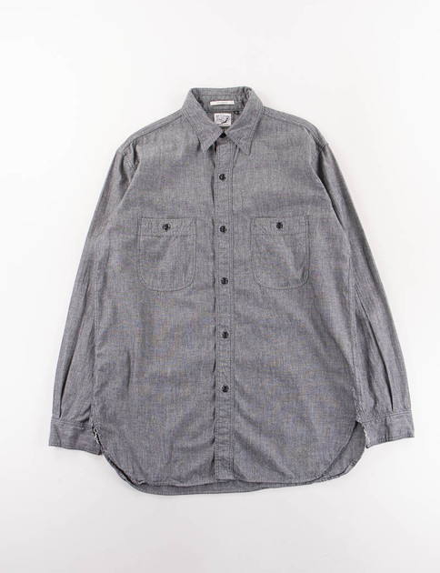 Black Chambray Vintage Fit Work Shirt