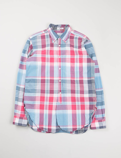 Red/Light Blue Big Plaid 19th Century BD Shirt