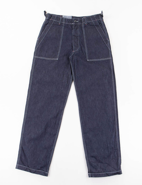 Indigo Heavy Denim Fatigue Pant