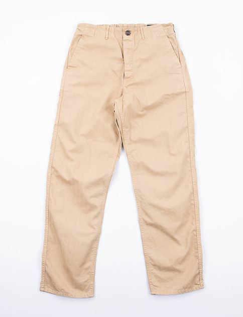 Khaki Herringbone French Work Pant