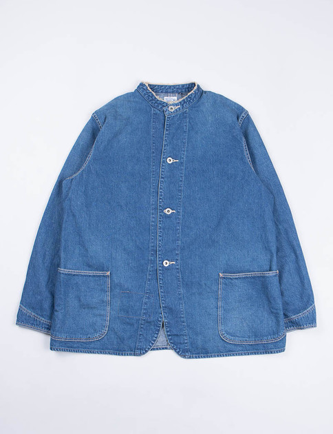 Used Denim Wash No Collar Coverall