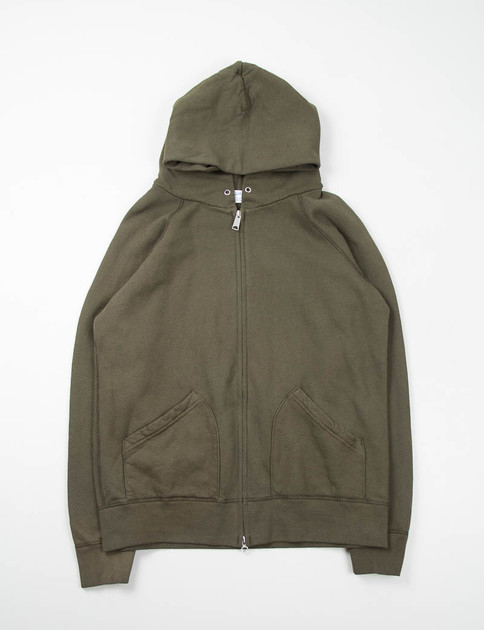 Army Hooded Zip Sweat