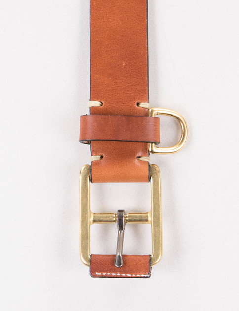 Buck Brown Stitched D–Ring Belt