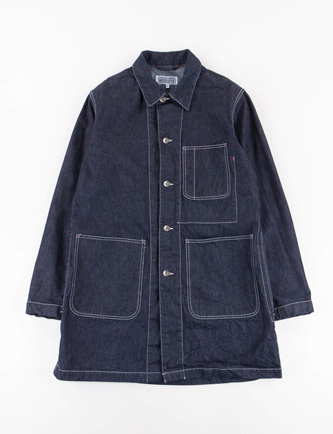 Indigo Heavy Denim Shop Coat