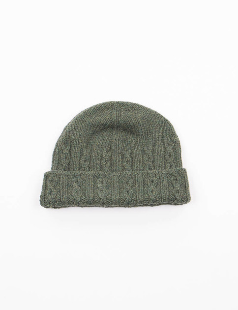 Dark Green Cable Hat