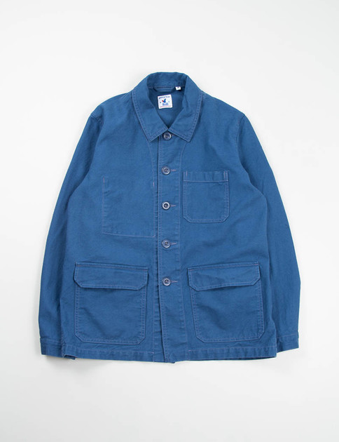 Azur Blue Cotton Serge Travail Jacket