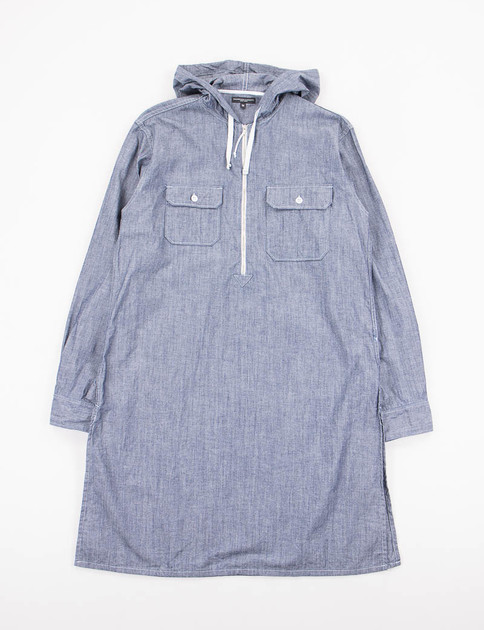 Blue Cone Chambray Long Bush Shirt