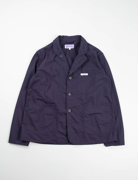 Navy Cotton Ripstop Workers Jacket