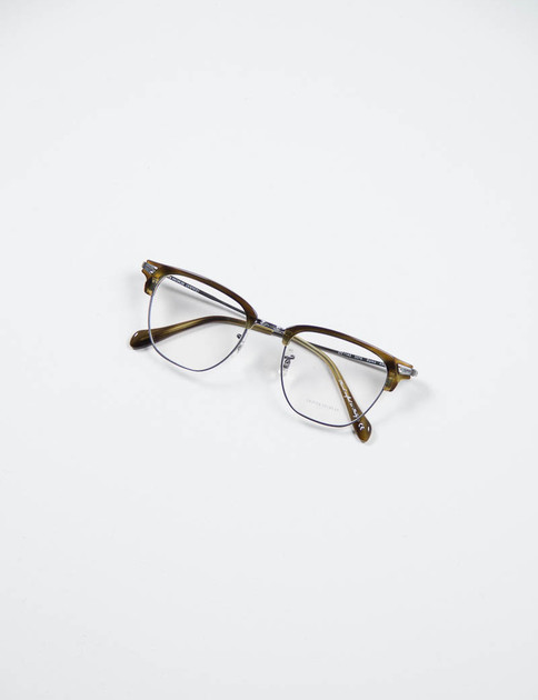 Pewter/Moss Tortoise Banks Optical Frame