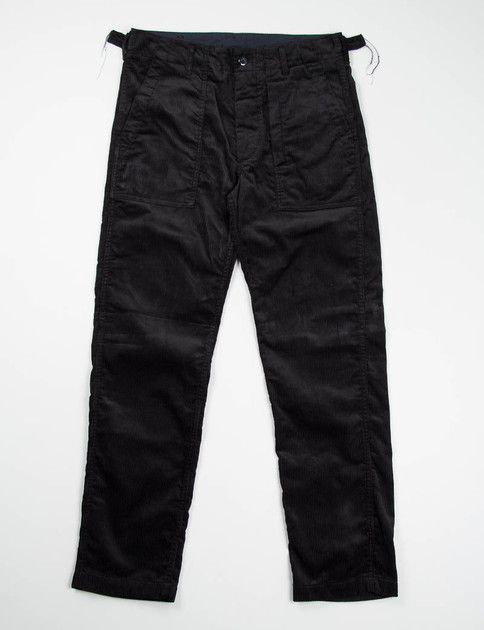 Black 8W Corduroy Fatigue Pant