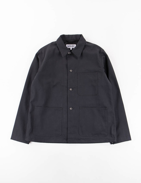 Black 10oz Bull Denim Utility Jacket