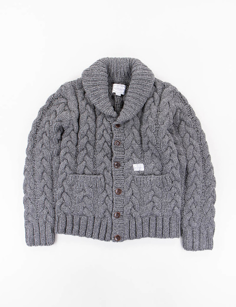 Charcoal Fisherman W–Cardigan