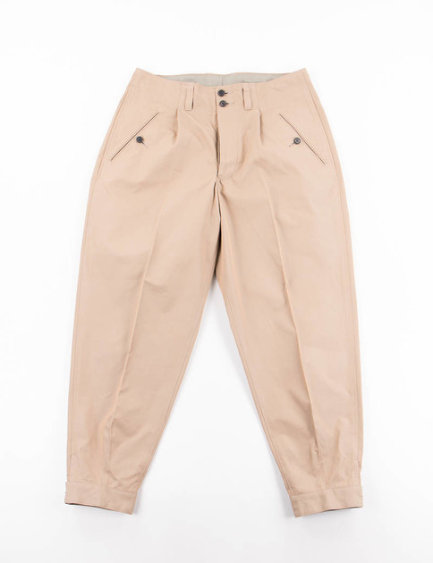 Khaki Chino Pleated Pant