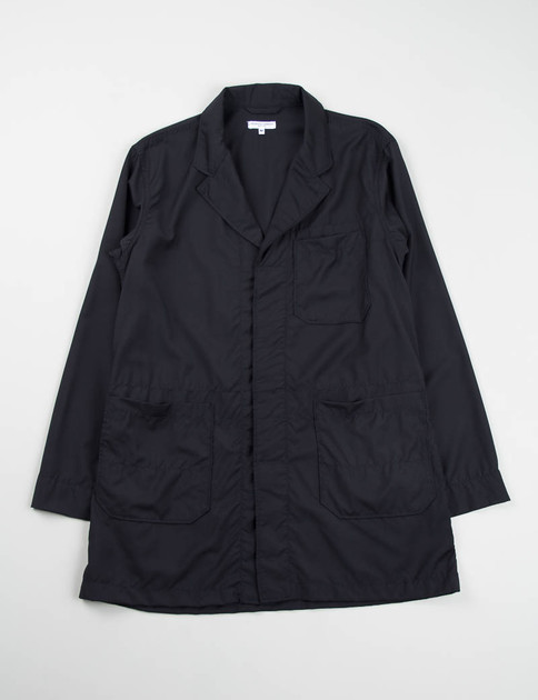 Navy Tropical Wool Shop Coat