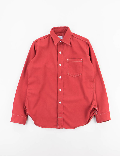 Old Red Wool Flannel The Post lll Shirt