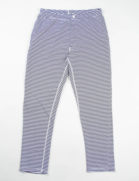 Navy/White Stripe French Terry Easy Pant