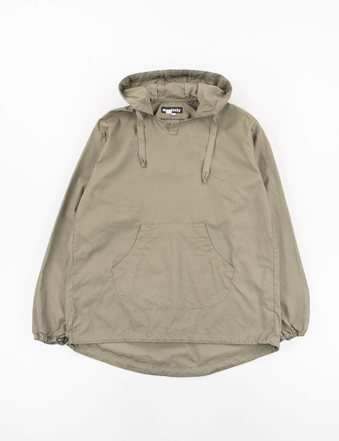 Olive Vancloth Hooded Pullover