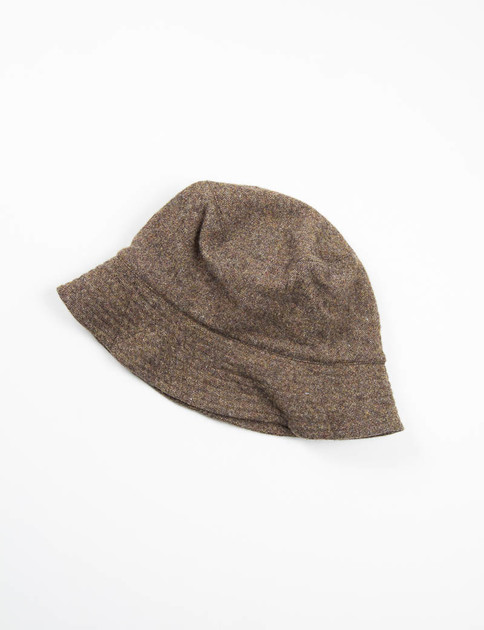 Brown 13oz Wool Flannel Bucket Hat