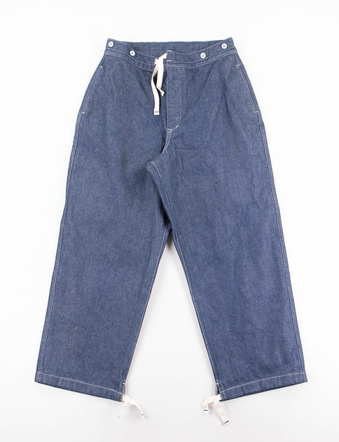 Indigo Denim Drawcord Pant
