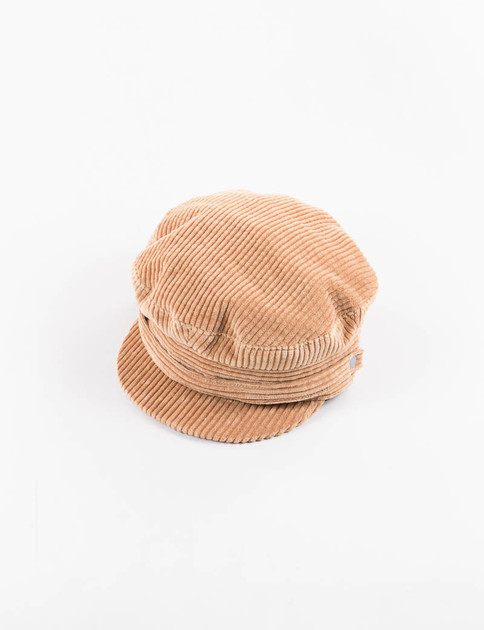Brown 9W Corduroy Greek Cap