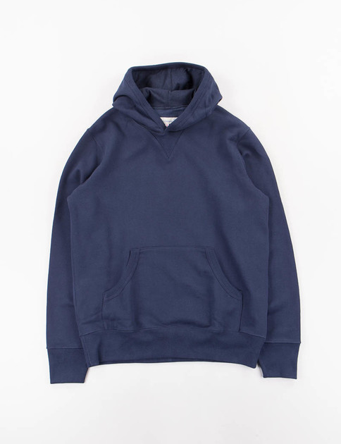 Ink Blue 3S82 Organic Cotton Hooded Sweater