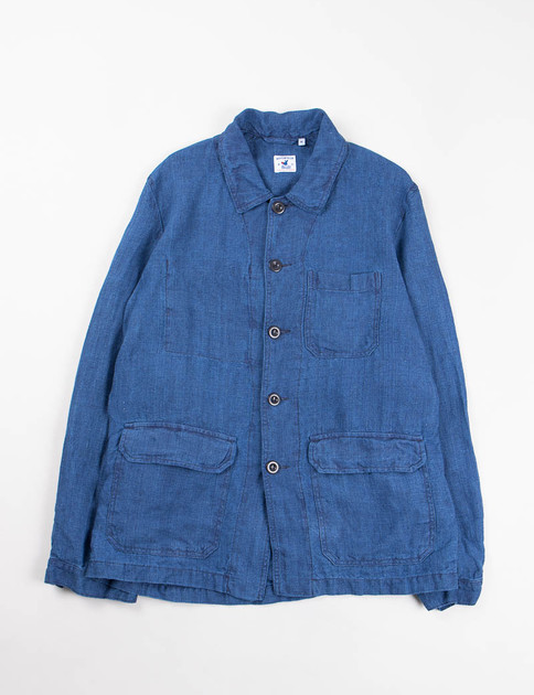 Indigo Linen Canvas Travail Jacket