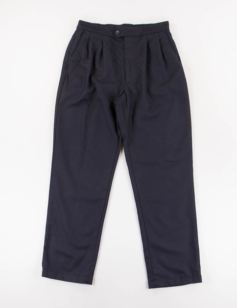 Dark Navy Worsted Wool Emerson Pant