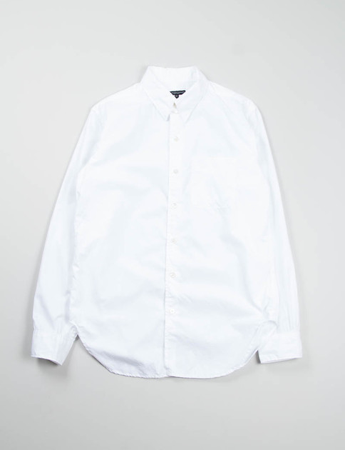 White 100's 2ply Broadcloth Tab Collar Shirt