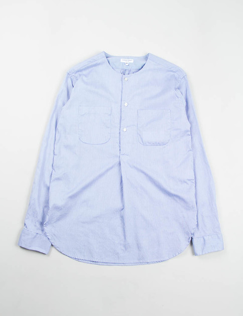 Blue Dobby Stripe Irving Shirt