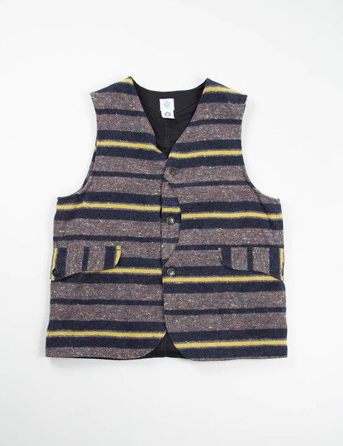 Grey/Yellow Trashed Wool Royal Traveler Vest