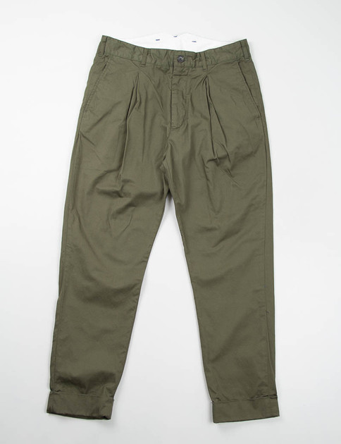 Olive High Count Twill Willy Post Pant