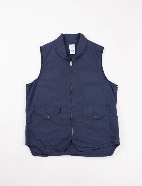 Navy Cotton Broadcloth Navy Cruz Vest